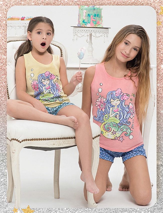 Pijama nena jersey algodón LITTLE MERMAID